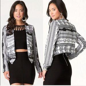 NWT Bebe Print Jacket size 0